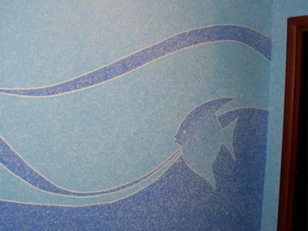 Морская тематика для стен ванной