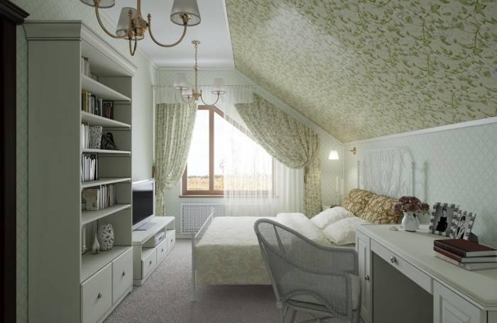 Использование стиля прованс для отделки спальни