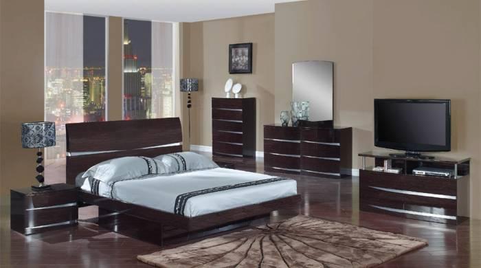 Отделка спальни современнами материалами