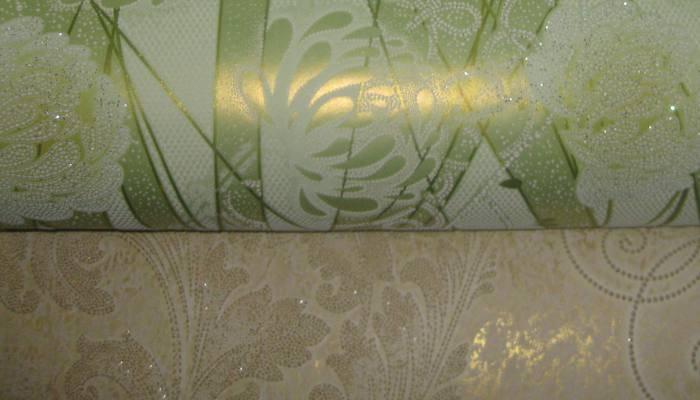 Бумажные обои с акриловым напылением
