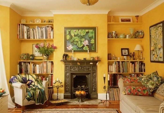 Уютный интерьер небольшой гостиной