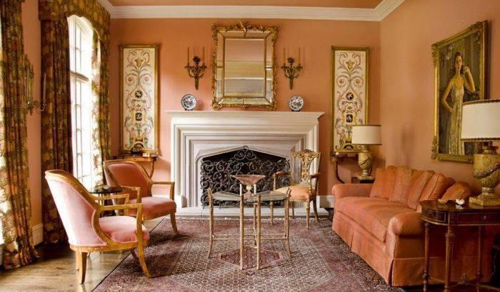 Приятный интерьер гостиной комнаты