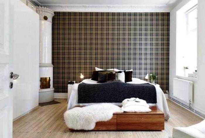 Спальня в контрастных тонах