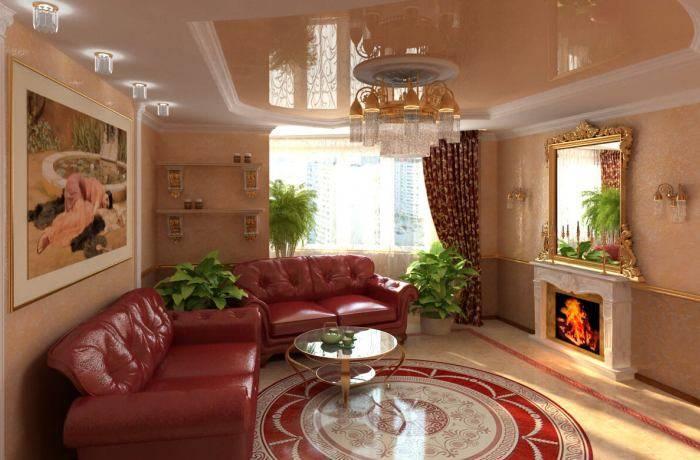 Гармоничный дизайн небольшой гостиной