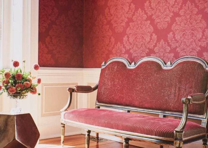 Сочный красный дизайн интерьера