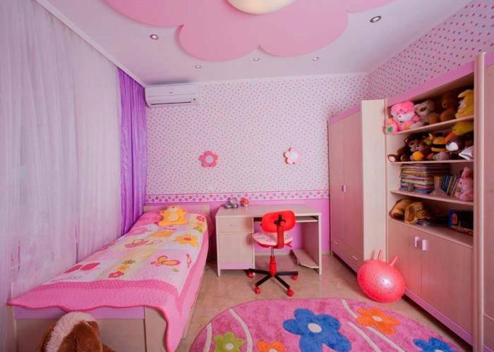 Обои в детскую комнату для девочек