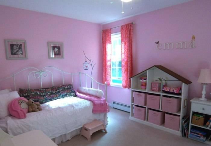 Скучный розовый интерьер