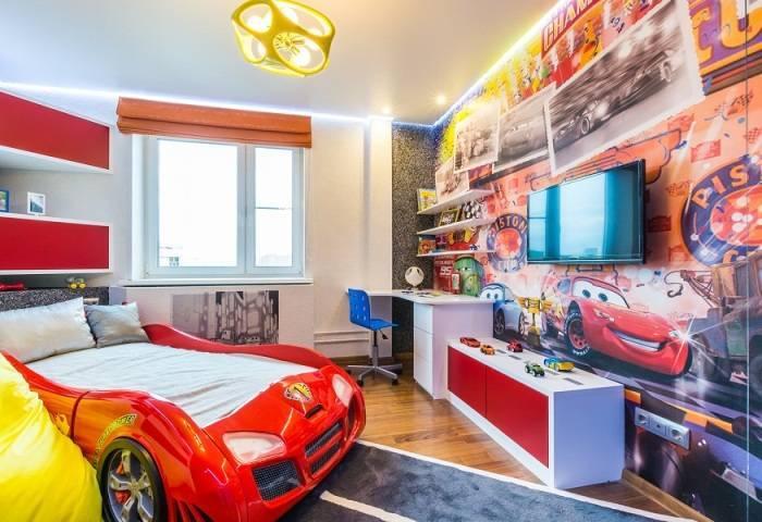 Детская комната в автомобильной тематике