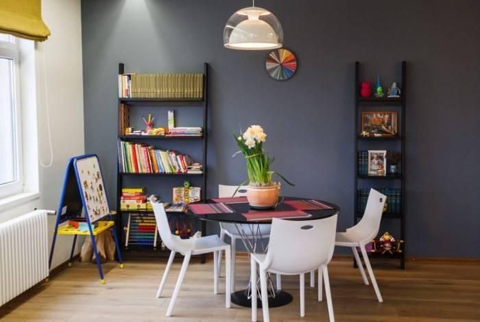 Котрастный дизайн детской комнаты