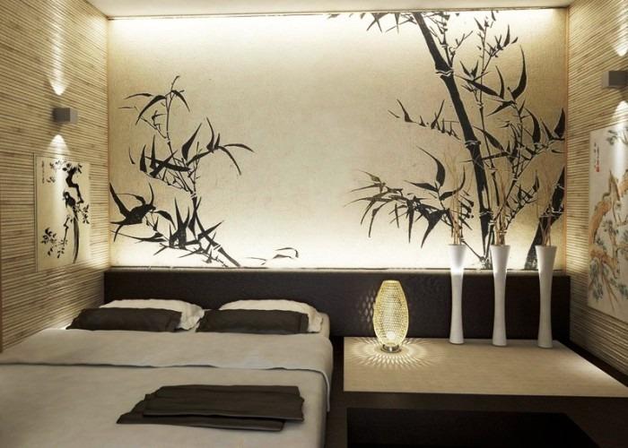 Небольшая японская спальня