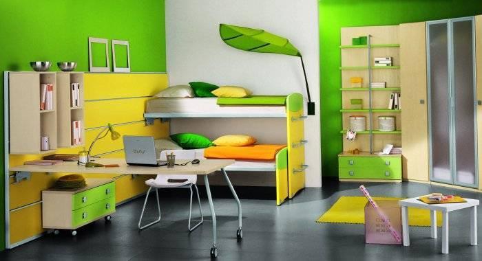 Позитивная расцветка детской комнаты