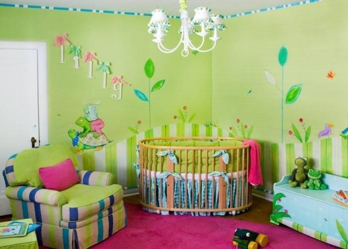 Обои под покраску для детской комнаты