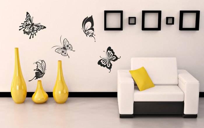 Декоретто в виде бабочек
