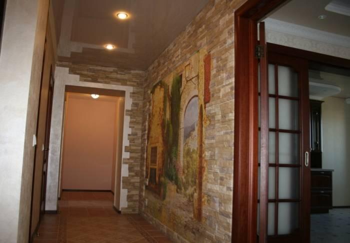 Удачная отделка коридора в квартире