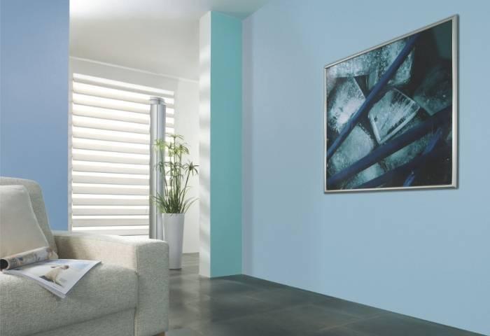 Интерьер комнаты после покраски