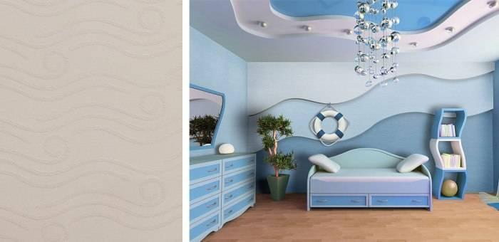 Применение стеклообоев для отделки детской комнаты