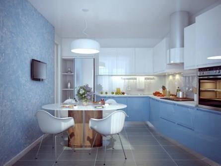 Свежий интерьер кухни
