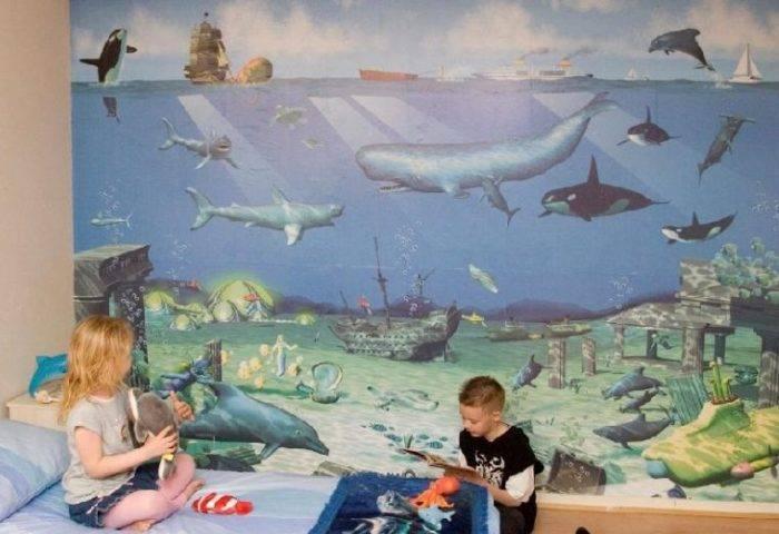 Морские глубины на стене