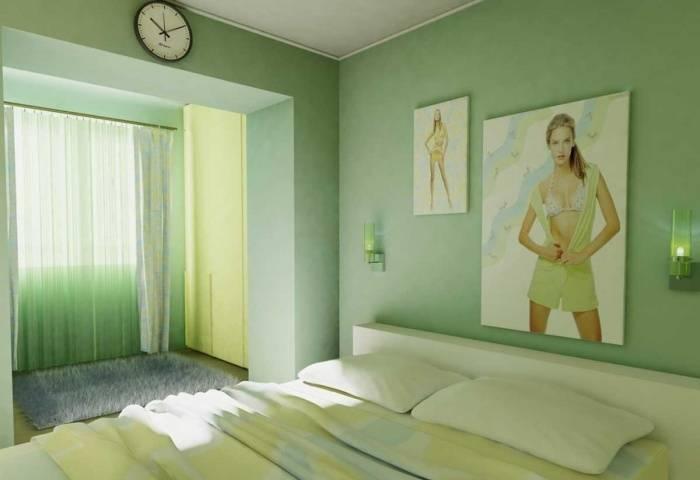 Спокойный интерьер спальни